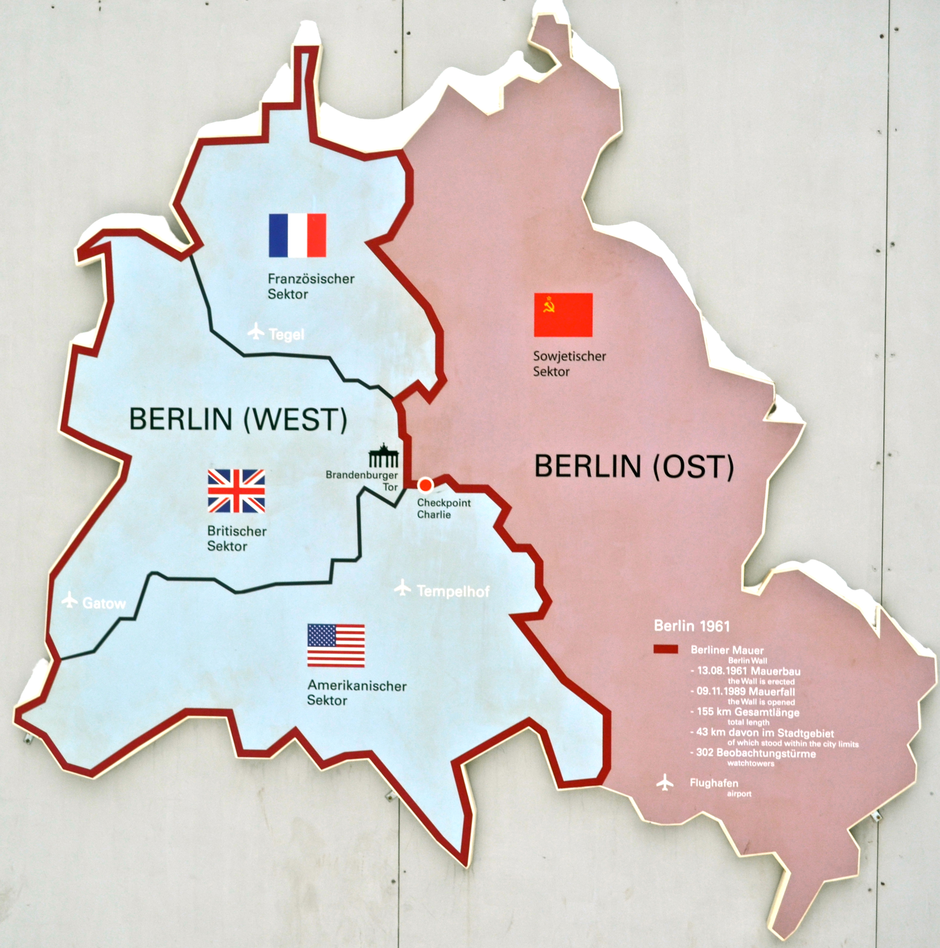 Die Berliner Mauer Th Anniversary Of The Fall Of The Berlin - Map of divided berlin